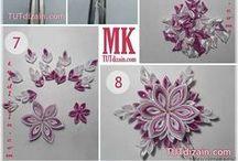 kwiatki z wstążki