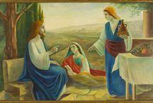 Jésus à Béthanie RP4 / Récréation Pieuse de Sr. Thérèse de l'Enfant Jésus et de la Sainte Face, pour le 29 juillet 1895, fête des soeurs converses (Sainte-Marthe) au Carmel de Lisieux.