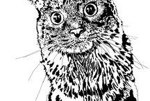 Pop art pets / Pet art including paintings and digital art