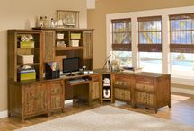 Rattan and Wicker Office Furniture / Enjoy your office more with our tropical and durable office furniture including desks, printer cabinets, storage, and much more. http://www.americanrattan.com/rattan-desk.html