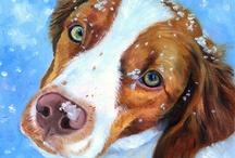 Brittany Spaniel Fine Art / My Art of the Brittany Spaniel dog.