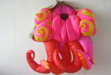 Red Hot - Anne Ferrer / Parisian artist Anne Ferrer's whimsical inflatable sculptures and watercolor.