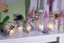 Fairy Lantern - lanterne luminose / lanterne di plastica con lumini led per far giocare la mia bambina con le fate del bosco...