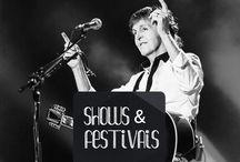Shows & Festivais / Festivais, shows e concertos ao redor do mundo e dos anos.