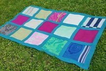 Blanket - COBALT / SIZE: 131X225cm MATERIAL - wool, linen MADE - handmade