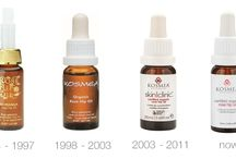 Kosmea products over the years / #throwback to our products and brand changes over Kosmea's 23 years