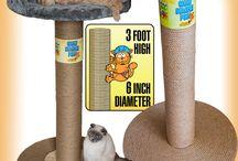 PetzTrendz® Giant Cat Scratch Post / 100% Sisal Rope Giant 3 foot! Cat Scratch Post (with or without bed)