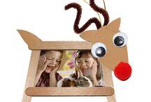 cadre renne de Noël