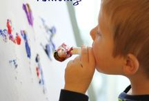 painting with kids / by Emily Heying