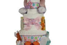 Baby Girl Diaper Cakes / Baby Girl Diaper Cakes