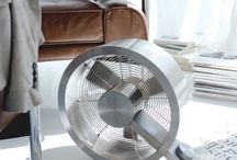 Q the fan by Stadler Form / - Unique shape made from stainless steel - Three power levels - Easy cleaning of fan blades