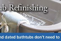 Bathtub Refinishing / Bathtub refinishing revitalizes your tub by changing the color, fixing chips and cracks and making it look and feel new.