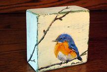 on wood art