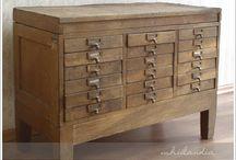 szafka biblioteczna, szuflady, szufladki