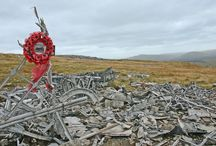 Guided walk to WW2 Aircraft Crash Site / Join a guided walk, within a small group, to one of the remote aircraft crash sites on The Black Mountain within the Brecon Beacons National Park. You will walk through beautiful open countryside and learn about the topography, landscape and plant-life features of the area. You'll then arrive at the moving site at Carreg Goch where six brave crew members of the Royal Canadian Airforce died in 1944 when their Wellington Bomber crashed to the hill during a training exercise.
