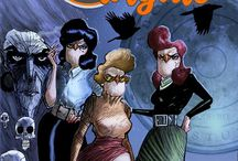 Owlgirls / This is a comicbook concieved by Rachele Aragno, art directed by Dave Ryan and writtne by myself that deals with three sisters in 1940s SoHo NYC. The sisters have the heads of owls and the bodies of human women and they have mystical adventures.