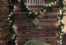 Rustic christmas booth