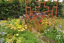 Laser Cut Trellis Panel | Our Work / Bespoke freestanding laser cut trellis panel for the silver medal winning show garden at BBC Gardeners World Live by Judy Shardlow.