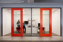 offices / 'Offices' were traditionally cellular spaces denoting a persons elevated position within a company. Contemporary workspaces have retained this tradition, however such spaces are now more communally used for groups to undertake business-related tasks.