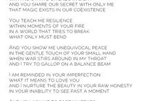 My heart in Words / Writings.