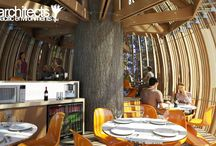 Yellow treehouse restaurant / New Zealand's Whimsical Yellow Treehouse Restaurant Towers Above The Redwood Forest  Read more: New Zealand's Whimsical Yellow Treehouse Restaurant Towers Above The Redwood Forest | Inhabitat - Sustainable Design Innovation, Eco Architecture, Green Building