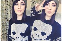 Maddie Carina/Hannah Snowdon / Her style is amazing. They are beautiful.