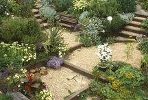 Escaleras, senderos jardin