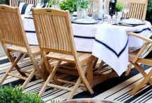 Alfresco Dining / A Selection of Recipes, and Dining Furniture to suit.