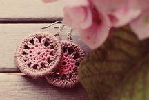 Belarritakoak / Earings / Pendientes / Eskuz eginak, kakorratzez / Handmade, crochet / Hechos a mano, ganchillo