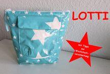 LOTTI my little toiletbag pattern / Schnittmuster Kulturtasche für Anfänger / Kulturtaschenschnitt für Anfänger - empfohlen für Wachstuch oder beschichtete Baumwolle toilet bagpattern for Oilcloth