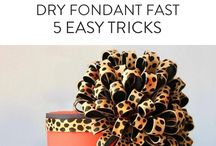 How to dry fondant fast