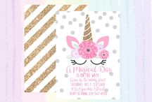Party: Unicorn Invitations and Printables