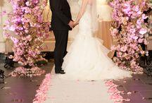 Wedding Ceremonies / Wedding Ceremony Floral Decor by Douglas Koch Designs. Includes Chuppahs, Alter Flower Arrangements, Aisle Decor and Shepard Hooks.