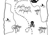 mapy pokladů, diplomy