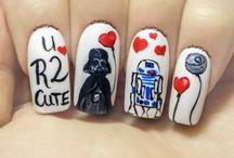 Valentine's Day Freehand Nail Art