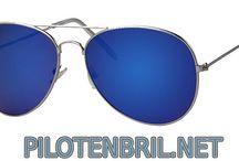 Pilotenbril blauwe glazen