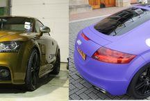My Audi TT-S 3M Matte Royal Purple Wrap with Black Gloss Roof / My Audi TT-S 3M Matte Royal Purple Wrap with Black Gloss Roof