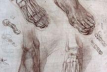 El ve Ayak Karakalem - Hand and Foot Charcoal