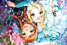 Elsa / I love Frozen because it reminds me of my sister and me. I'm Elsa and my sister's Anna!(Yes, we love chocolate!)