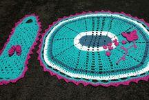 Meus trabalhos em crochê. ❤️