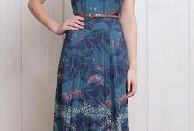 Vestidos Longos / Vestidos elegantes bem cortados e cores suaves http://efeitoagulha.blogspot.com.br/