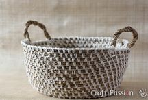 Crochet/knitted baskets