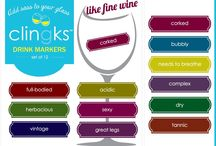 Fun Drink Markers / Clingks- Add sass to your glass