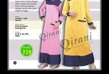 Gamis Wanita / Gamis wanita Qirnai terbuat dari katun Combed, tersedia ukuran S sampai XL