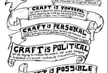 Craftivism / Olika sätt att förändra världen med händerna / different ways to change the world with crafts (www.gerillaslöjd.se)