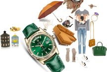 Watch Style Collages / Luxury wristwatches and accessories