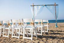 Beach themed wedding inspiration!