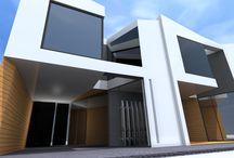 DIAZ Y MUÑOZ ARQUITECTOS VIVIENDAS WHITE LINE DESIGN / Viviendas modernas, Díaz y Muñoz Arquitectos S.L.P.