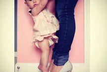 Baby. Mama and I.
