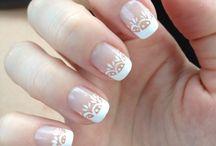 Bröllop klänning, hår, naglar